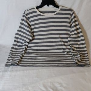 Liz Claiborne Striped Cotton T-Shirt